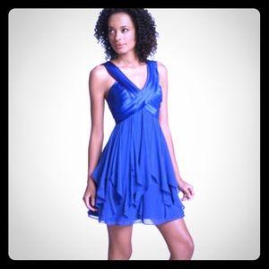 🆕 BCBGMAXAZRIA Sapphire Shutter Pleated Dress